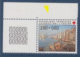 Croix Rouge Française 1991 Toulon Vue Du Port N°2733 Neuf Avec Bord De Feuille Guilloché En Coin - Neufs