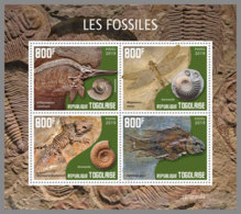 TOGO 2019 MNH Fossils Fossilien Fossiles M/S - OFFICIAL ISSUE - DH2003 - Fossils