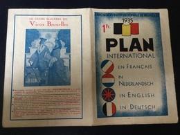 Expo Internationale De Bruxelles En 1935 : Plan De L'exposition - Old Paper