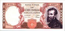 19972) BANCONOTA 10000 LIRE MICHELANGELO 4-1-1968 -vedi Foto - [ 2] 1946-… : Repubblica