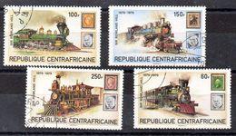 República Centroafricana Serie Nº Yvert 400/03 O Trenes (TRAIN) - Repubblica Centroafricana