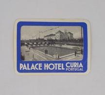 Cx13 CC10) Portugal PALACE HOTEL CURIA Etiquette Hotel Label 6,5x8,5cm Canto Dobrado - Etiketten Van Hotels