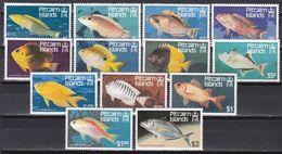 Pitcairn Islands 1984 - Mi.Nr. 238 - 250 - Postfrisch MNH - Tiere Animals Fische Fishes - Vissen