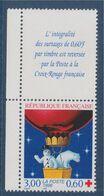 Au Profit De La Croix Rouge Fêtes De Fin D'année Ours Blanc Bonhomme De Neige En Ballon N°3039a Neuf Vignette Carnet - Neufs