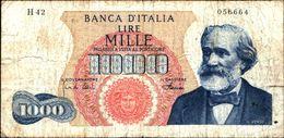 19981) BANCONOTA 1000 LIRE G. VERDI 4-1-1968 -vedi Foto - [ 2] 1946-… : Repubblica