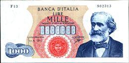 19983) BANCONOTA 1000 LIRE G. VERDI 14-7-1962 -vedi Foto - [ 2] 1946-… : Repubblica