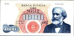 19984) BANCONOTA 1000 LIRE G. VERDI 10-8-1965 -vedi Foto - [ 2] 1946-… : Repubblica