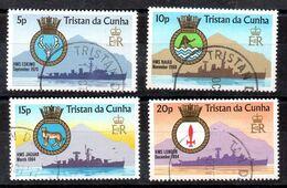 Tristan De Cuhna Serie Nº Yvert  215/18 O BARCOS (SHIPS) - Tristan Da Cunha