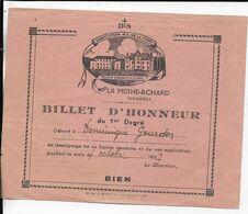 85.- LA MOTHE-ACHARD - Billet D' Honneur ( Dominique Gourdon ) - Diploma's En Schoolrapporten