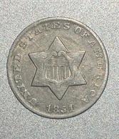 3 CENTS 1851 1er Type étoile Non Surlignée TB - Émissions Fédérales