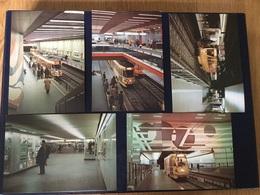 Serie De 9 Cartes Postales Neuves Sur Le Métro De Bruxelles (serie A) - Public Transport (underground)