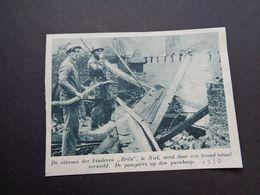 """Origineel Knipsel ( 5867 ) Uit Tijdschrift """" De Stad """"  1937 :   Brand  Pompier   Niel - Alte Papiere"""