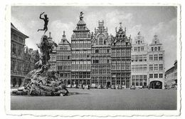 ANVERS.-GRAND PLACE ET MONUMENT BRABO   YEAR 1958 - Belgique
