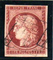 YT N° 6B Signé Goebel Avec Certificat - Cote: 1100 ,00 € - Carmin Brun - 1849-1850 Ceres