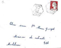 Lettre Cachet Manuel, Berne Morbihan 24-I I964 - Marcophilie (Lettres)