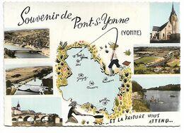 PECHEUR à La LIGNE (Et La Friture Vous Attend - Dessin) à PONT SUR YONNE (89) - Pêche