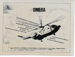 Photographie 15 X 20 Cm Pour Publicité Société OMERA (ARGENTEUIL) Avec Hélicoptère Super-Frelon - Aviation