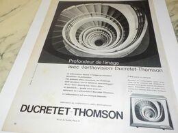 ANCIENNE   PUBLICITE TELEVISION DUCRETET THOMSON  1959 - Television