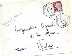 Lettre Cachet Manuel, Triaucourt C.P N° 1 Meuse 6-9 I963 - Marcophilie (Lettres)
