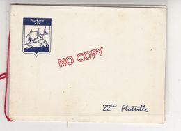 Carte De Voeux 1961 22 ème Flottille Aéro-navale Aéronavale Avion Planeur Enfant - Documents