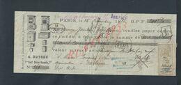 PARIS REÇU DE 1888 ILUSTRÉE SUR TIMBRE FISCAUX MAISONS A DARGNIES & A AULT SOMME TAMPON COFFRES FORTS G VILLEREL - Frankreich
