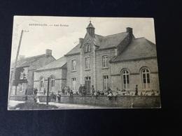 CP Senzeilles : Carte Animée Des écoles En 1914 . Au Dos Marque Linéaire Senzeille - Cerfontaine