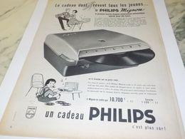 ANCIENNE PUBLICITE CADEAU POUR JEUNE MIGNON PHILIPS 1958 - Musica & Strumenti