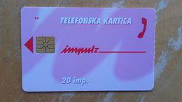 TELEFONSKA KARTICA-20 Impulzov.Martina Kajfez - Slowenien