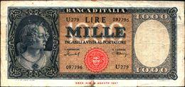 19989) BANCONOTA LIRE 1000 ORNATA PERLE - 11-1-1949.1959-vedi Foto - [ 2] 1946-… : Repubblica