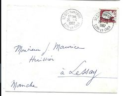 SAINT-DYE Sur Loire - Loir Et Cher - Cachet Manuel Sur Lettre 1962 - Marcophilie (Lettres)