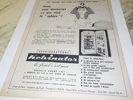 ANCIENNE PUBLICITE CE QUE FEMME VEUT REFRIGERATEUR KELVINATOR 1957 - Non Classés