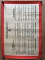AFFICHE ALLEMANDE EN 3 LANGUES 1941 DECRET CONCERNANT L INTERDICTION DE TOUTE AUGMENTATION DE PRIX WWII MARCHE NOIR - Documents