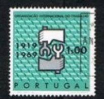 PORTOGALLO (PORTUGAL)  -  SG 1362   - 1969 I.L.O. ANNIVERSARY  -   USED° - 1910-... República
