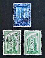 EMISSIONS 1956 - OBLITERES - YT 990 + 994 - Belgium