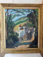 """Jean LABASQUE (1902-1983) """"Le Chateau De Vens"""" Huile Sur Toile Grand Format - Olii"""