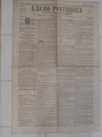 "Journal ""L'Echo Pontoisien"" N° 24 Du Jeudi  24 Août 1871 Avec Cérès 25 C. Bleu. - Kranten"