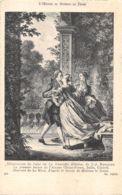 Le Mire (Gravure) - Dessin De Moreau Le Jeune - Illustration De La Nouvelle Héloïse De J.-J. Rousseau - Tarjetas De Fantasía