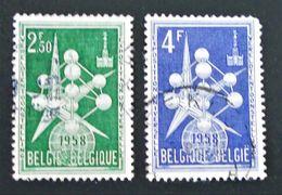 EXPO UNIVERSELLE DE BRUXELLES 1957 - OBLITERES - YT 1008A/09 - Belgium