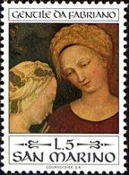 San Marino 1973 Scott 828 Sello ** Nacimiento De Gentile Da Fabriano Adoracion Reyes Magos Michel 1055 Yvert 861 Stamps - San Marino