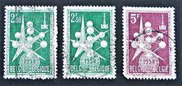 EXPO UNIVERSELLE DE BRUXELLES 1957 - OBLITERES - YT 1008A + 1010 - Belgium