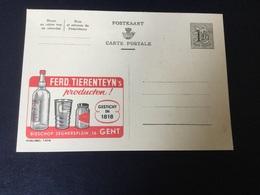 Publibel Neuve N° 1406  Tierenteyn - Stamped Stationery