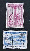 EMISSIONS 1957 - OBLITERES - YT 1011 + 1019 - Belgium
