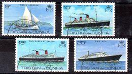 Tristan De Cuhna Serie Nº Yvert  256/59 O BARCOS (SHIPS) - Tristan Da Cunha