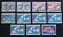EMISSIONS 1958 - OBLITERES - YT 1046/50 - Belgium