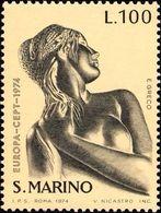 San Marino 1974 Scott 840 Sello ** Europa CEPT Esculturas E. Greco Michel 1067 Yvert 873 Stamps Timbre Saint Marin - San Marino