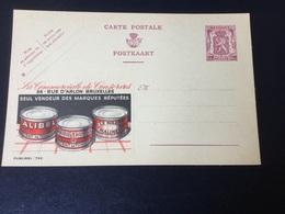 Publibel Neuve 742 (commercial De Conserves ) - Stamped Stationery