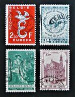 EMISSIONS 1958/59 - OBLITERES - YT 1064 + 1089 + 1093 + 1108 - Belgium