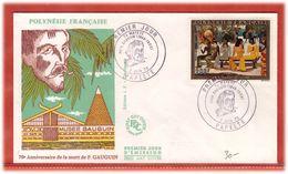 IMPRESSIONISTES POLYNESIE FDC GAUGUIN DE 1973 - Impresionismo
