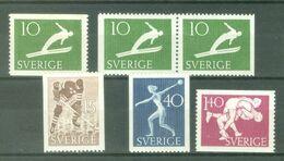 Sweden 1953; Sports, Michel 379-382 & 379DD.** (MNH) - Nuevos