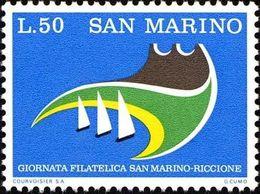 San Marino 1974 Scott 842 Sello ** Jornadas Filatelicas San Marino-Riccione Yachts Michel 1069 Yvert 875 Stamps Timbre - San Marino